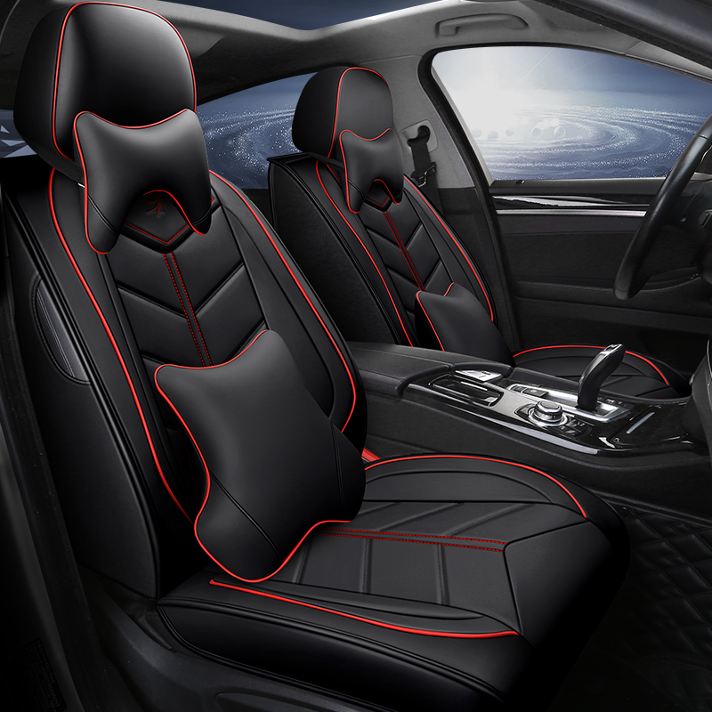 Full Coverage Eco leather auto seats covers PU Leather Car Seat Covers for Chevrolet spark a aveo b chevrolet cruze cobalt camar Automobiles Seat Covers     - title=