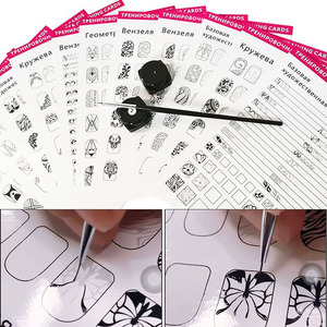 Nail Art Practice Lines Drawing Painting Template Learning Book Manicure Salon Tools Nails Accessoires(China)