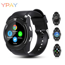 YPAY Waterproof V8 Watch Smart Watches Men With Clock Camera Sim Card Slot Dial Call Function Smartwatch Android Bluetooth Watch fxm digital men watch smart watch men for women clock android bluetooth clock with call music photography sim t card smart watch