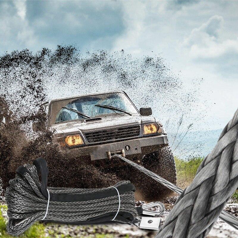 30 м синтетический трос лебедки 10 мм Кабель восстановления автомобиля буксировочный трос для автомобиля Atv Utv внедорожный - 2