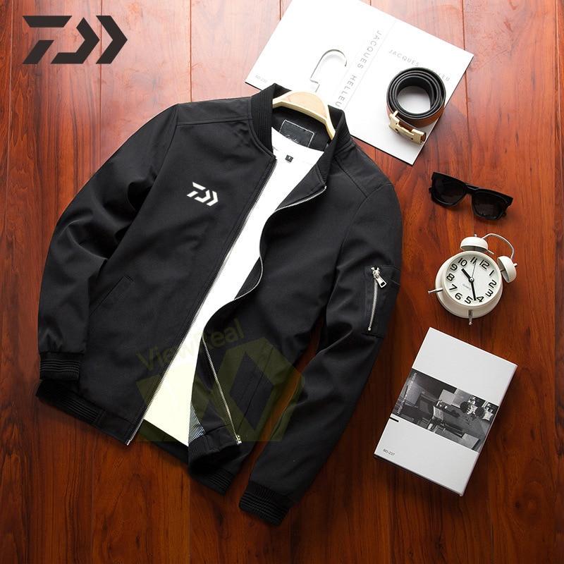 New Spring Autumn Daiwa Fishing Jacket Men Casual Coat Thin Fishing Clothing Outdoor Sports Zipper Quick Dry Fishing Clothes
