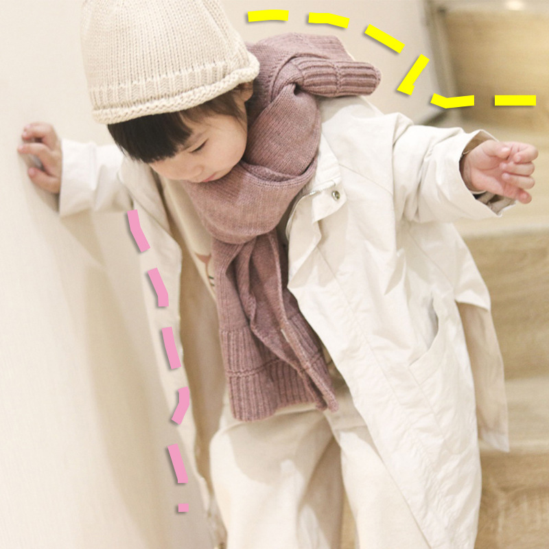 South Korea Autumn And Winter Children Knitted Scarf Solid Color Versatile Baby Wool Scarf INS Korean-style Warm CHILDREN'S Neck