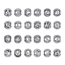 JewelryPalace Initial 925 Sterling Silver Vintage Alphabet Letter Beads Charms Original Fit Bracelets