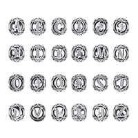 Jewelrypalace inicial 925 prata esterlina vintage alfabeto carta contas encantos prata 925 original pulseiras ajuste 925 original