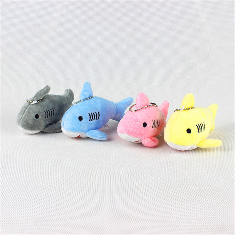 12cm Mini <font><b>Plush</b></font> <font><b>Toy</b></font> Cute Shark <font><b>Plush</b></font> Keychain Women's Car Keyring Pompom <font><b>Key</b></font> <font><b>Chains</b></font> Women Handbag <font><b>Key</b></font> Pendant Gift For Children image