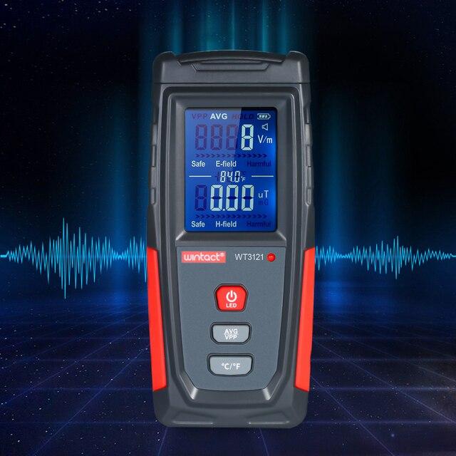 Electric Field Magnetic Field Dosimeter Detector Digital LCD Household Electromagnetic Wave Radiation Detector Meter EMF Tester
