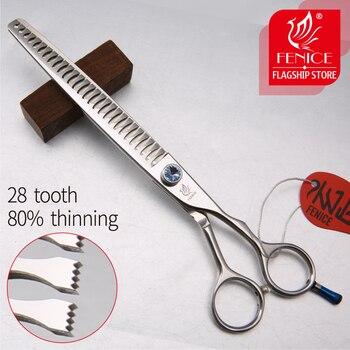 Fenice JP440c 7 cali 8 cali High-end Pet nożyczki do pielęgnacji psów nożyce do cieniowania stopień przerzedzania około 80%