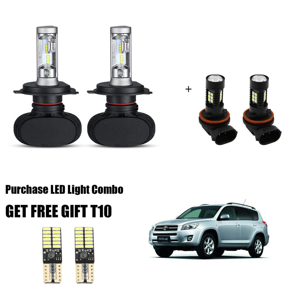 For Toyota Sequoia 2001-2007 4x Combo 9003 H4 9006 LED Headlight Fog Light Bulbs