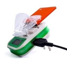 Cargador de batería Universal USB con pantalla indicadora LCD, enchufe europeo y estadounidense para teléfonos celulares, Cargador USB, cargador de batería Samsung