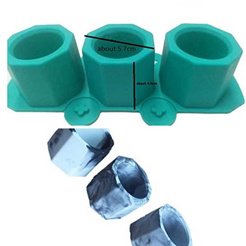 3 穴ポット型鋳造石膏型セラミック粘土クラフトサボテン花コンクリート金型シリコーンカップ金型用品