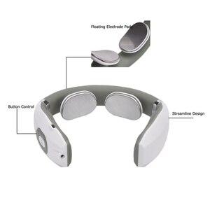 Image 5 - USB Ricaricabile di Impulso Massager del Collo Lontano Infrarosso di Riscaldamento A Raggi Infrarossi Sollievo Dal Dolore Salute E Bellezza Relax Dispositivo Intelligente Massaggiatore Cervicale