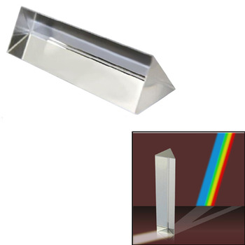 Gosear 7.8CM Optical Glass crystal Triple Triangular Prism for Physics Teaching Light Spectrum prisme prisma cristal