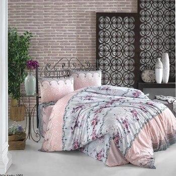 100% من القطن طقم غطاء السرير مزدوجة
