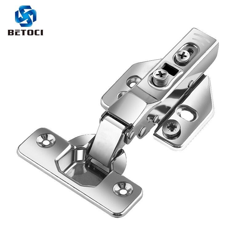 2PCS BETOCI B Serie Hinge Stainless Steel Door Hydraulic Hinges Buffer Cabinet Cupboard Door Hinge Soft Close Furniture Hardware