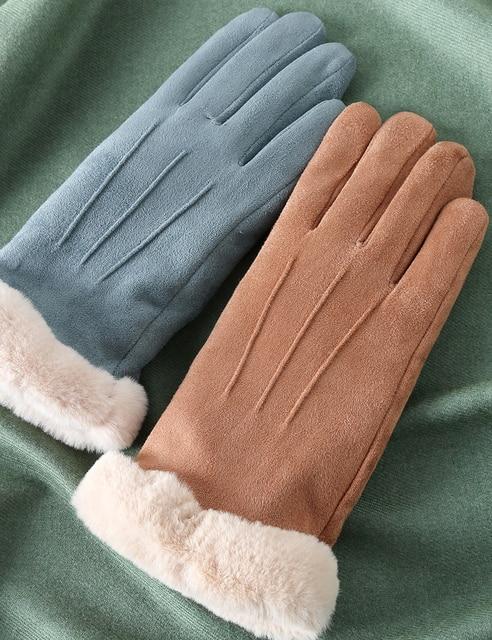 Купить feiqiaosh 2020 зимние женские перчатки с сенсорным экраном серые картинки цена