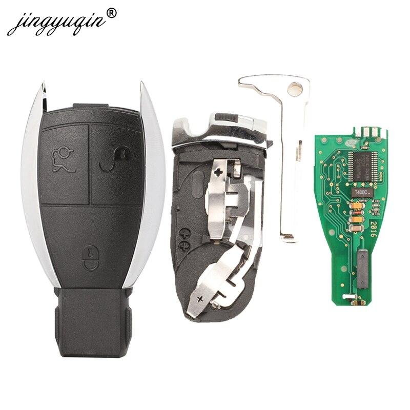 Jingyuqin NEC 3 düğme uzaktan araba anahtarlık 433Mhz Mercedes Benz CLS W204 W202 W212 W211 W203 w205