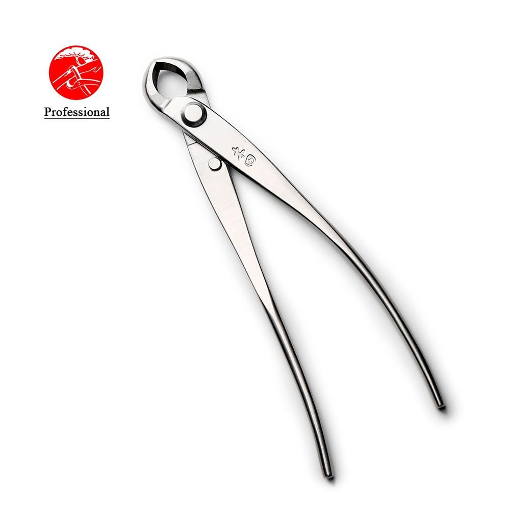 TianBonsai製の175 mmノブカッター凹型エッジカッタープロ品質レベル4Cr13MoVステンレス鋼盆栽ツール