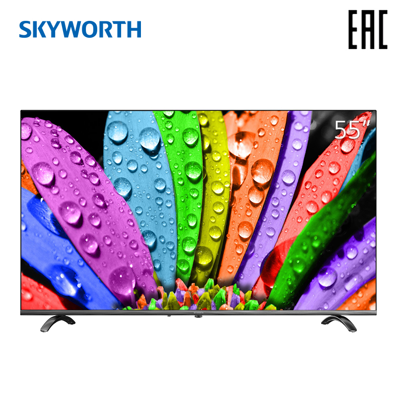 Televisão 55 polegada skyworth 55q20 4 k ai smart tv android 9.0
