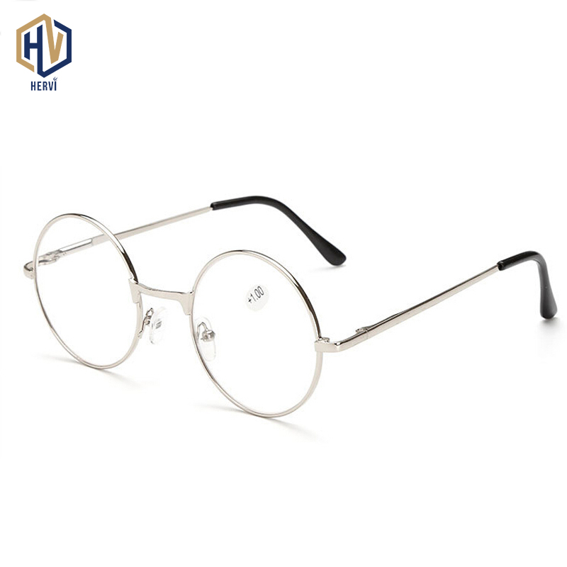 MOLNIYA Retro Round Reading Glasses Women Men Metal Presbyopic Glasses Myopic Lens Eyewear +1.0+1.5+2.0+2.5 +3.0 +3.5 +4.0|Women
