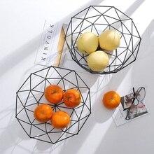 Kitchen Basket Container Bowl Metal Wire Basket Kitchen Drain Rack Fruit Vegetable Storage Holder Snack Tray Storage Bowl