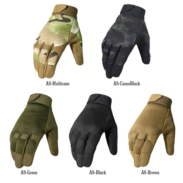 Multicam Tactical Gloves Fishing Army Military Bicycle Airsoft Motorcycle Shoot Paintball Work Gear Camo Full Finger Men Women 5