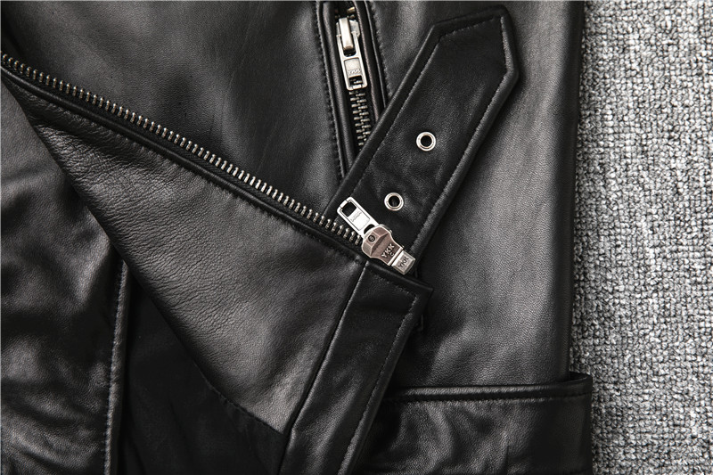 Hdfb2e163463649ec980c8e9c278b3996G Free shipping,Sales!Brand new genuine leather jacket.mens motor biker sheepskin coat.slim plus size jackets.leather outwear