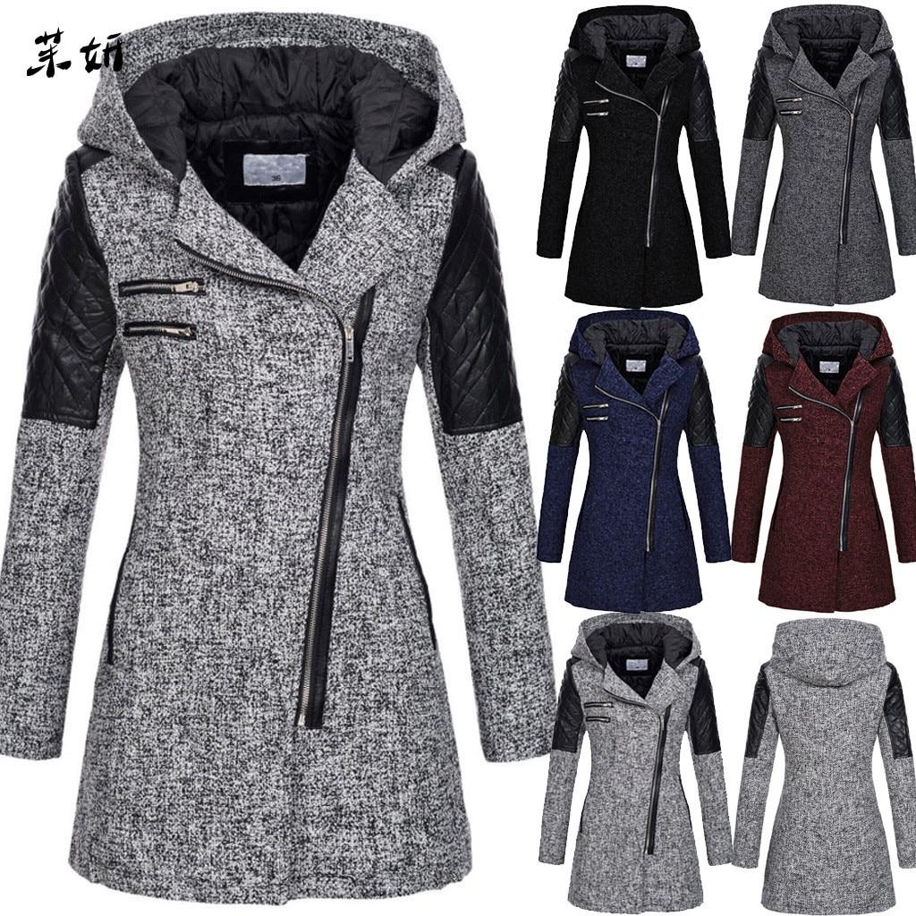 Женское пальто, теплая тонкая куртка с длинным рукавом, толстое пальто, зимняя верхняя одежда с капюшоном на молнии, большие размеры, S-5XL пал...