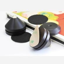 Base de madera de ébano, cono de aislamiento de vibración, disco hifi amp