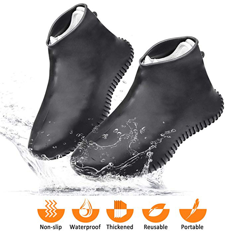 Waterproof Shoe Covers Silicone Shoe Covers Reusable Non-Slip Rain Snow Overshoe Foldable Galoshes Shoe Protectors For Men Women