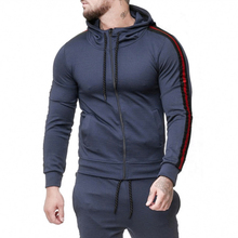2019 autumn fashion striped sweatshirt hoodies men eu size 2xl long sleeve tracksuit casual style