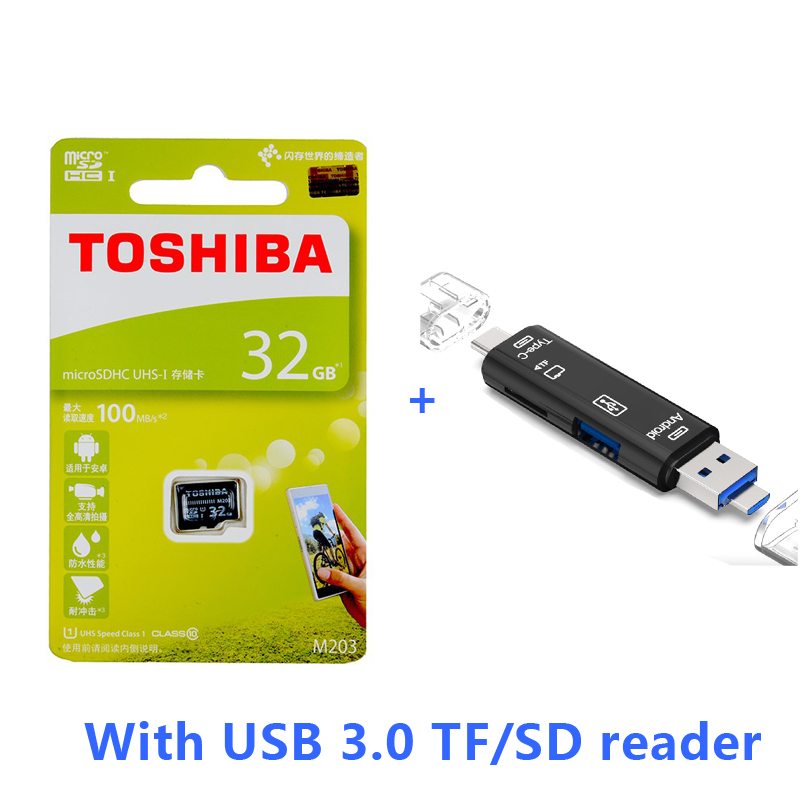 TOSHIBA 32G M203 Serie tarjeta de almacenamiento microSD 100M//s UHS-I Clase 10 de alta velocidad