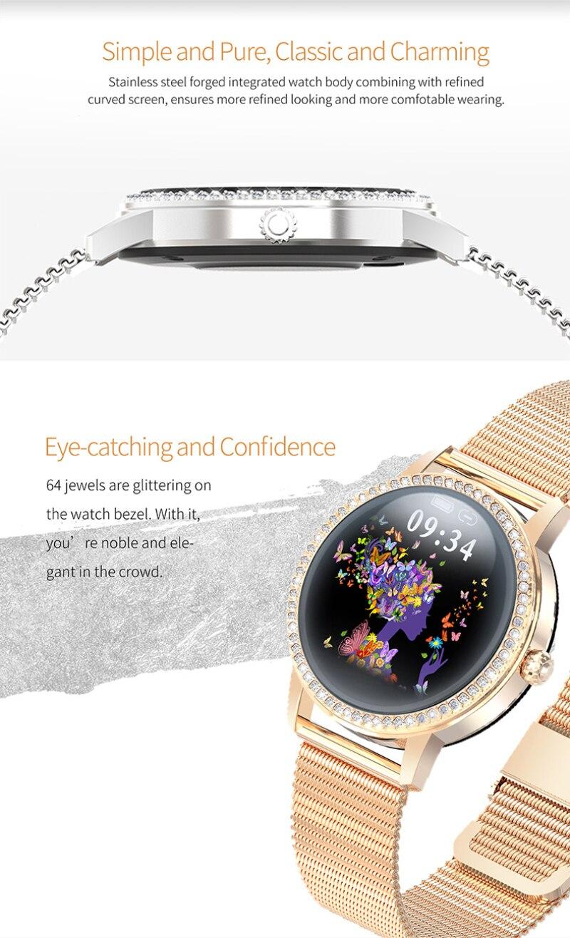 2020 relógio inteligente lw20 relógio feminino relógio