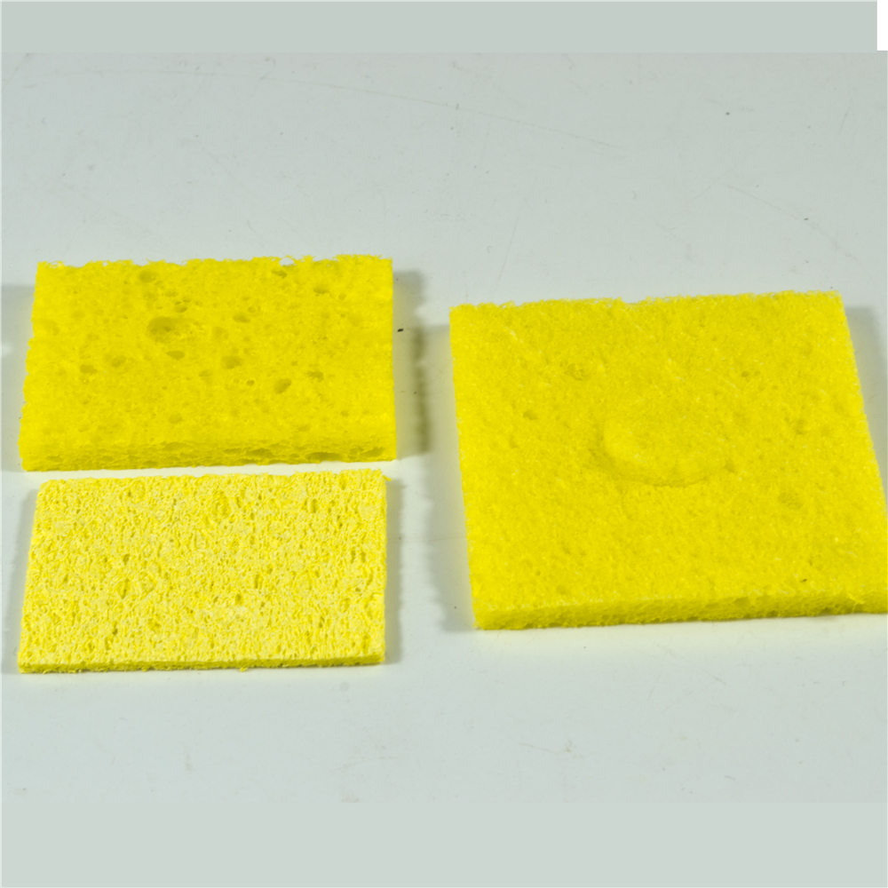 Sponge For Soldering Iron 10 Pieces Per Lot Yellow Foams 60mm*60mm To Clean Soldering Tips Used With Water