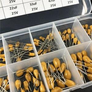 Image 3 - 10 valeurs 100 pièces 25V 1uF 2.2uF 3.3uF 4.7uF 6.8uF 10uF 22uF 33uF 47uF 68uF condensateur au tantale kit assorti avec boîte de rangement