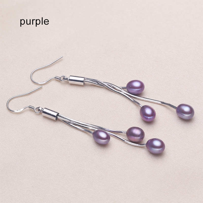 Hdfb357baa1a947f39aaedcb234b054c43 - ZHBORUINI 2019 Pearl Earrings Natural Freshwater Pearl Tassels Pearl Jewelry Drop Earrings 925 Sterling Silver Jewelry For Woman