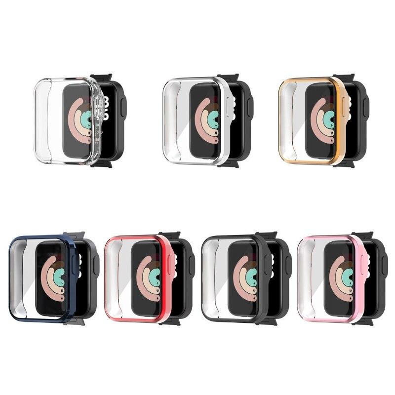 Мягкий цветной защитный чехол для часов, защитный чехол для экрана, кожаный чехол для Xiaomi Mi Watch Lite Redmi, аксессуары для часов