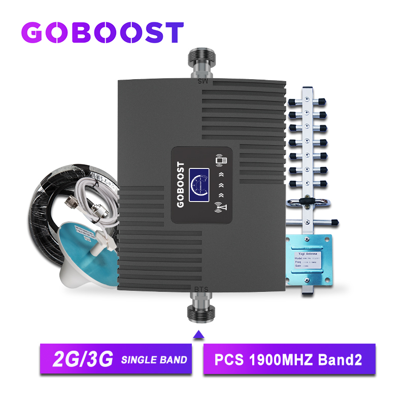 GSM Amplifier For Mobile Phone Cellular Signal Booster 2G 3G 1900 Mhz Yagi Antenna Communication Amplifier GSM Internet Band2 -