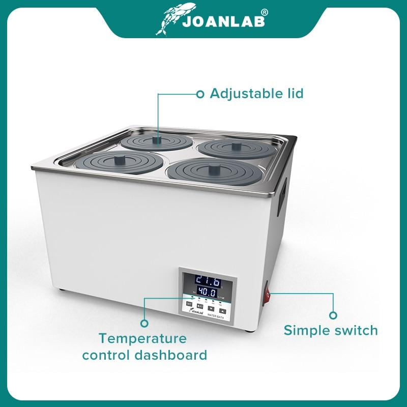 JOANLAB Laboratory Water Bath Constant Temperature LCD Digital Display Lab Equipment Thermostat Tank 6 4 2 1 Single Hole 220v 3