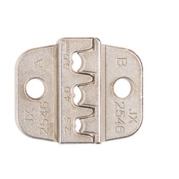 2546 AWG stal stopowa złącza słoneczne zaciski Die zaciskarka do przewodu szczęki okucie formy szczypce do zaciskania dodatki przybory tanie i dobre opinie NianLenss CN (pochodzenie) ELECTRICAL Alloy steel Amerykańska Wire Crimper Jaw GJ0091 Silver JX-1601-2546 30 * 25mm 1 18 * 0 98in (L*W)