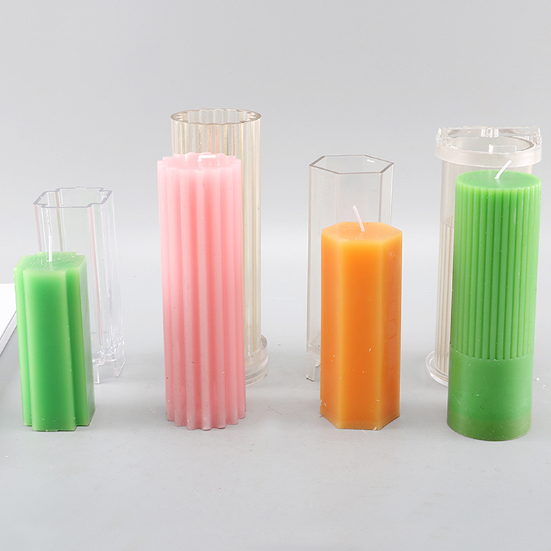 DIY handmade candle mold 4 shapes kaarsen maken candle making tools cylindrical candle moulds diy candle material lz01
