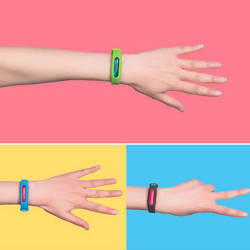 1 шт. цветной летний репеллентный браслет, экологичный силиконовый браслет, антимоскитный браслет, рождественский подарок для детей