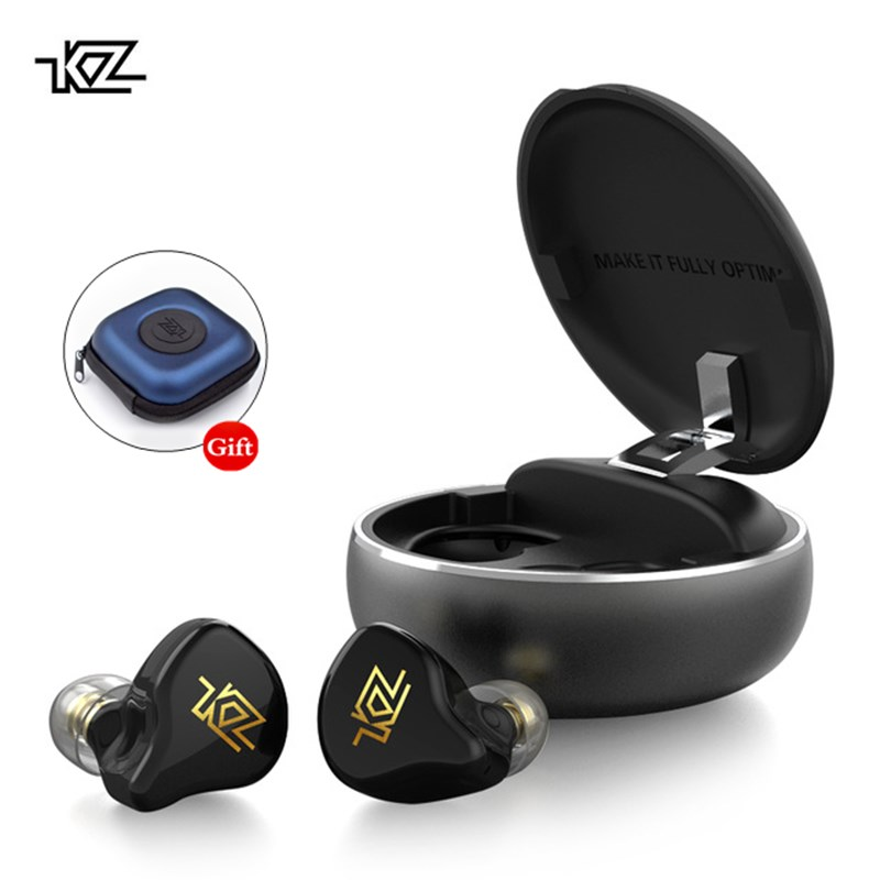 KZ T1 TWS Wireless Touch Control Bluetooth 5.0 Earphone Hybrid HIFI Earbuds Earphones Noise Cancelling Handsfree HD Headphones