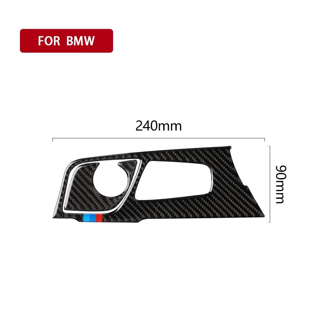 Image 3 - Automobiles Interior Carbon Fiber Gear Panel Decals Gear Shift Panel Car Stickers for BMW 5 Series 2018 G38 528li 530li 540li