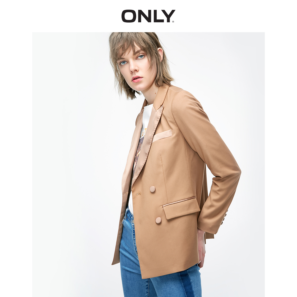 ONLY  Women's Loose Fit Double-breasted Blazer   119108545
