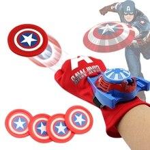 Marvel Avengers Super Hero Glove Launcher Props Captain America Spiderman Hulk Ironman Cosplay Cool Gift Launcher For Kids Toy