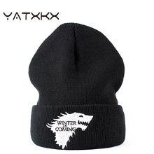 [yatxxxx】вязаная шапка с вышивкой для мужчин и женщин Женская