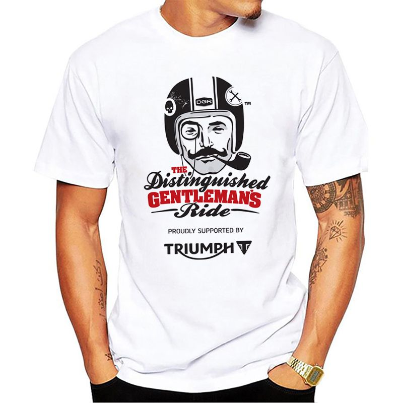 Men Triumph T Shirt Motorcycles And Biker White Print Graphic Tees Shirts Men Triumph Fans Tops