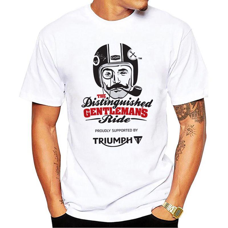Men Triumph T Shirt Motorcycles And Biker White Print Graphic Tees Shirts Men Triumph Fans Tops