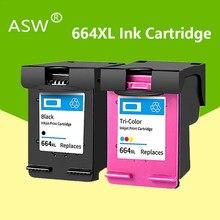 Substituição do cartucho de tinta Para HP664XL 664XL ASW 664 para Impressora HP Deskjet 1115 2135 3635 1118 2138 3636 3638 4536 4676 Printer