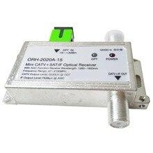 FTTH ORH 2020 15 оптический приемник с AGC 1260 1660nm 47 2150MHz MINI CATV + SAT IF оптический приемник встроенный фильтр